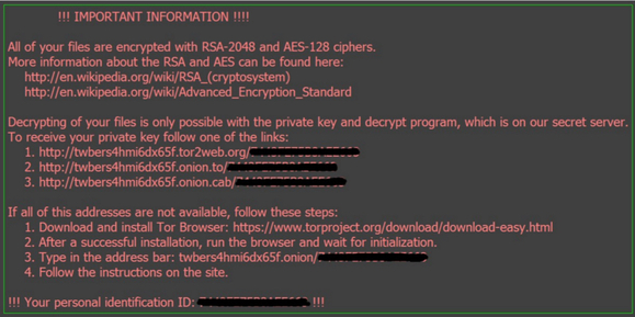 Locky's infected file note
